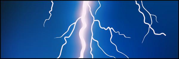 Lightning Bolt Banner 60x20