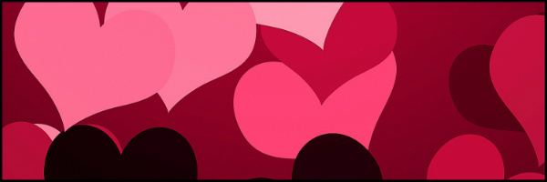 Hearts on Hearts Banner 60x20