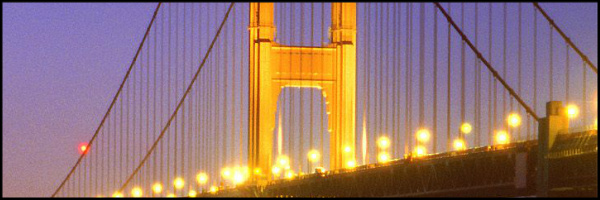 Golden Gate at Night Banner 60x20