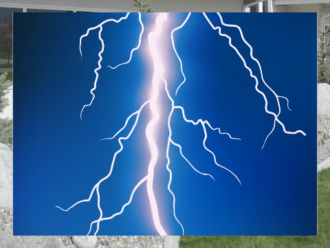 Lightning Bolt Exterior Signs 24x18