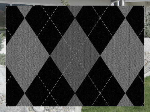 Gray Argyle Pattern Exterior Signs 24x18