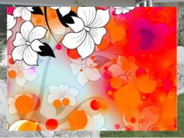 Tropical Flower Motif Exterior Signs 24x18