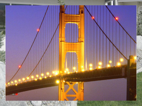 Golden Gate at Night Exterior Signs 24x18