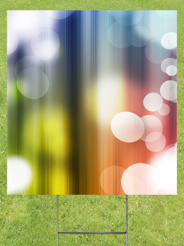 Rainbow Bubbles Lawn Sign 18x24