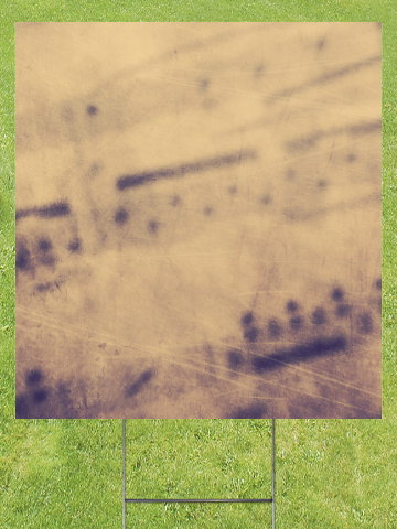 Sheet Music Chords Faded Lawn Sign 18x24