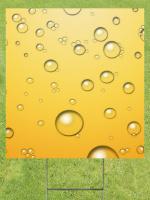 Champagne Bubbles Lawn Sign 18x24