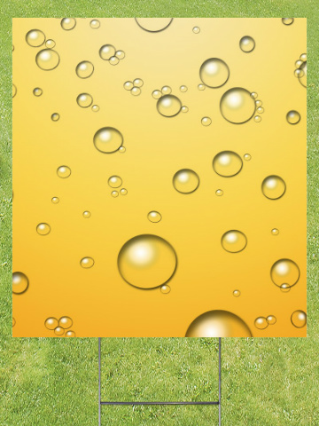 Champagne Bubbles Lawn Sign 18x24