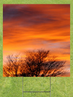 Fall Sunset Lawn Sign 18x24