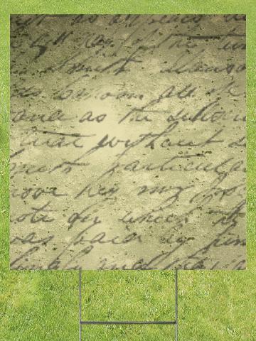Handwritten Poem Lawn Sign 18x24