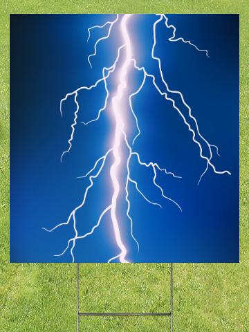 Lightning Bolt Lawn Sign 18x24