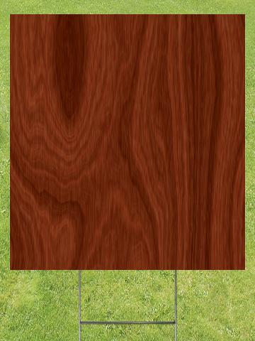 Regular Wood Grain Lawn Sign 18x24