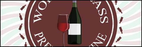 Premium Wine Logo Banner 60x20