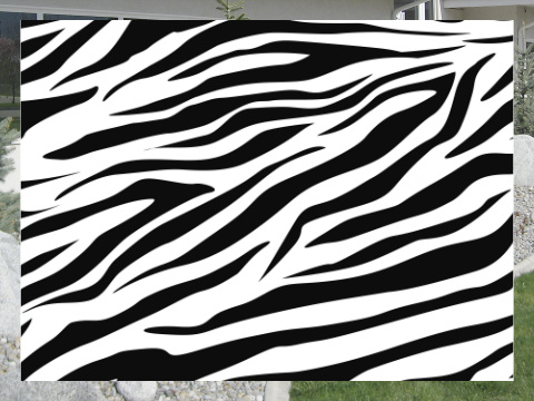 Zebra Stripes Exterior Signs 24x18