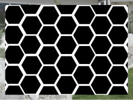 Black Honeycomb Exterior Signs 24x18