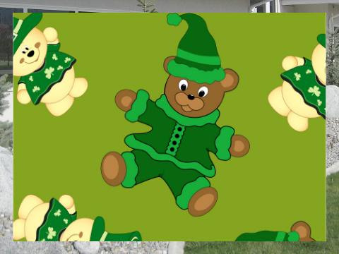 St Pattys Day Bears Exterior Signs 24x18