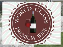 Premium Wine Logo Exterior Signs 24x18