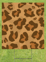 Classic Large Leopard Print Lawn Sign 18x24