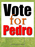Vote For Sign Lawn Sign 18x24