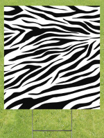Zebra Stripes Lawn Sign 18x24