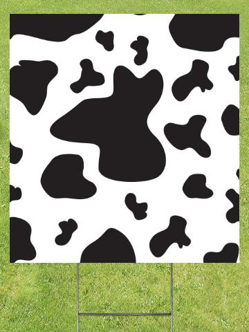 Cow Spots Lawn Sign 18x24