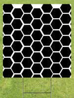 Black Honeycomb Lawn Sign 18x24