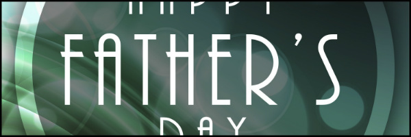 1920's Style Fathers Day Banner 60x20