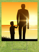 Father Sunset Lawn Sign 18x24
