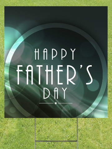1920's Style Fathers Day Lawn Sign 18x24