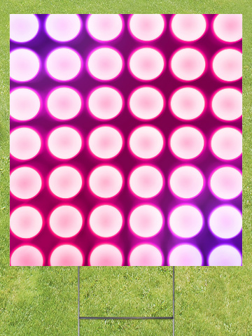 Pink Concert Lights Lawn Sign 18x24