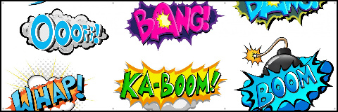 Pow Boom Zap! Banner 60x20