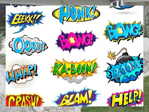 Pow Boom Zap! Exterior Signs 24x18