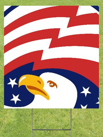 Bald Eagle Lawn Sign 18x24