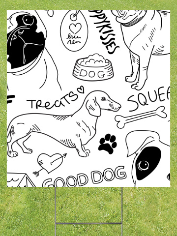 Good Dog Lawn Sign 18x24