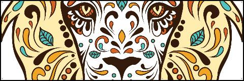 Folkart Lion Banner 60x20
