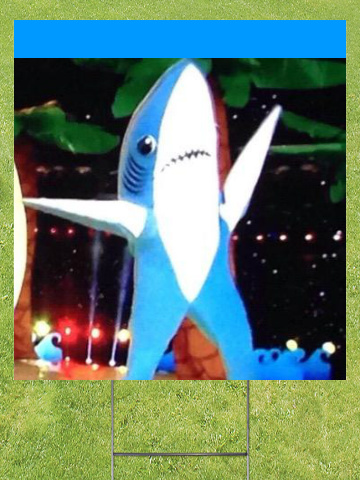 Left Shark Lawn Sign 18x24